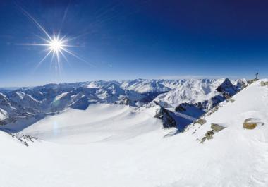 Panorama stubaiského ledovce